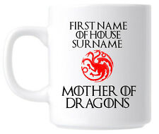 Personalised Game of Thrones Mug coffee Cup. Mother of Dragons