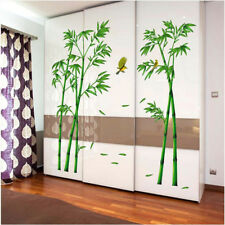 2 pcs Green Bamboo Forest Wall Stickers Decorative Mural Art for Living Room