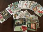 Lot of 25 Vintage 1900s~ CHRISTMAS~Postcards Antique Xmas-in Sleeves-Free Ship