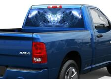Two silver wolfs Rear Window Graphic Decal Sticker Truck SUV Pick-up