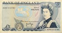 Bank Of England 5 Pounds Somerset QE2 pictorial issue Bank Note Currency UK