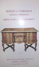 1977 Catalogue de Vente Drouot DESSINS ET TABLEAUX ANCIENS ET MODERNES