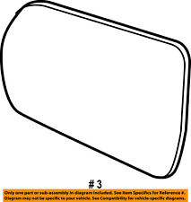 FORD OEM 15-18 Edge Outside Mirrors-Front Door-Mirror Glass Right FT4Z17K707C