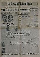 LA GAZZETTA SPORTIVA N° 35/ 21.AGO.1949 - COPPI,MAGNI,MARTINI e PEZZI . . . .