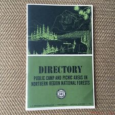 Vintage US Forest Service Camping Camp Area Directory Northern Region Montana 66