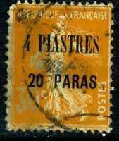 Levant 1921 French Colony 4P20¢/30¢ Blue SG #33 VFU H109 ⭐⭐⭐⭐⭐⭐