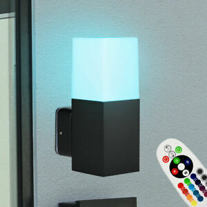 RGB LED Außen Wand Leuchte ALU Terrassen UP Strahler Garten Lampe FERNBEDIENUNG
