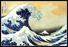 """5"""" Hokusai Kanagawa Wave vinyl sticker. Vintage Japanese art decal for laptop."""
