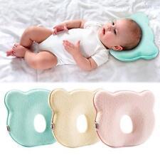 Baby Infant Newborn Memory Foam Bear Prevent Flat Head Neck Support Cot Pillow