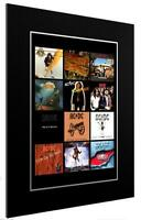 MOUNTED / FRAMED PRINT ACDC 12 ALBUM DISCOGRAPHY - DIFFERENT SIZES GIFT ARTWORK