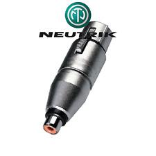 Adaptateur XLR 3 Broches Femelle vers RCA Femelle Neutrik NA2FPMF
