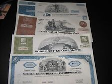 Lot Of ( 4 ) Vintage Stock Certificates