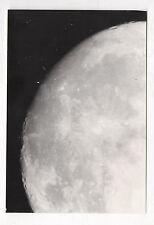PHOTO ANCIENNE Lune Astronomie Astre Moon Satellite Vintage - Vers 1970 Cratères