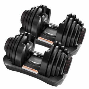 40kg Adjustable Dumbbells Pair 5-40kg (80kg Total)