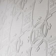 Early Viktorianisch Bemalbar Strukturiert Luxus Vinyl Tapete Anaglypta RD01600