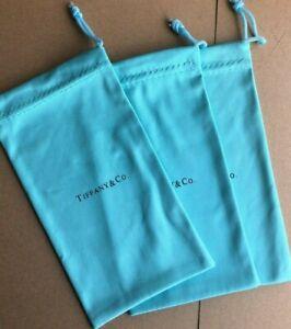LOT OF 3 Pcs Tiffany & Company Eyeglass Sunglass Dust bag microfiber