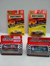 4 LOT 1993 Matchbox NASCAR 1:64 Diecast Super Stars Limited Edition + Stock cars