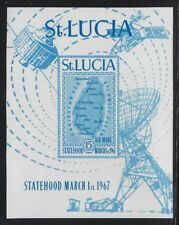St Lucia 1967 Perf & Imperf Map Airmail set & S/S Sc# C1 NH