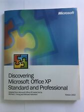MANUAL - DISCOVERING MICROSOFT OFFICE XP STANDARD AND PROFESSIONAL VERSION 2002s