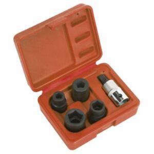 """Sealey VS0464 Brake Calliper Socket Set 5pc 1/2""""Sq Drive"""