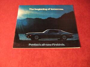 1970 Pontiac Firebird Sales Brochure Original Old Booklet Book Catalog