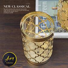 Metallic Cylinder Vase of Vintage Style for Home Decor Glossy Finish US Seller