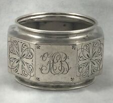 David Andersen Christiania 830 Sterling Silver Octagonal Decorated Napkin Ring