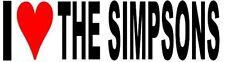 I Love The Simpsons Vinyl Decal Sticker
