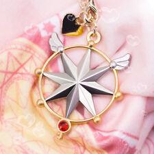 Anime Cardcaptor Sakura KINOMOTO SAKURA CLEAR CARD Key Chain Bag Pendant