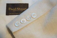 Paul Stuart Vanilla Off White Woven Sport Coat Jacket Sz 42R