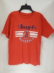Anaheim Angels YOUTH Tshirt Red/White/Navy Stitches Sample- Large