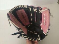"WILSON A440 Leather Fast Pitch 11"" Softball Mitt Glove Pink Black Monsta Web"