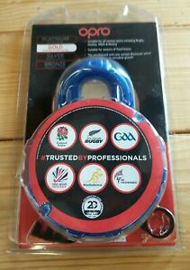 Opro Mouthguard Gold for Braces Adult Blue Protection Official Mouth guard USA