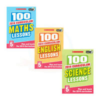 Year 5 Plan and Teach the 2014 Curriculum,3 Books Set (100 Maths Lessons,Scien)