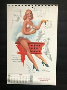 """WITHERS / hollywood """" built to last""""- jul 1953  PIN-UP/CHEESECAKE  calendar page"""