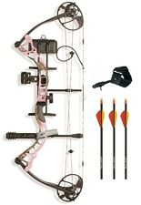 New Diamond Infinite Edge Pro RH 5-70# Pink Blaze Bow Package w/ Arrows Release