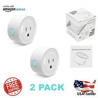 2x Wifi Smart Plug Remote Control Socket Outlet Switch Alexa Echo Google Home