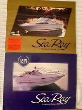 ☆ Rare 1985/1984 Sea Ray Boats Runabouts Cruisers Sales Catalog Guidebook