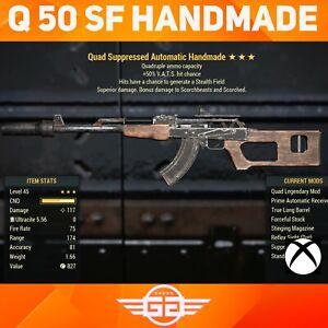 Quad , 50 VHC, stealth field, Handmade - Q50SF Handmade -  Fallout76 [XBOX]