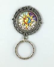 Sun Moon  Magnetic Badge Eyeglass Holder, Magnetic Brooch,  Design #2