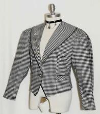 BLACK & WHITE ~ COTTON German Women SUMMER Fitted GEESE Dress JACKET / 42 10 M