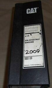 CAT CATERPILLAR C15 TRUCK ENGINE SERVICE SHOP REPAIR MANUAL BOOK S/N SDP 5BR