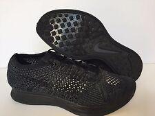 Nike Flyknit Racer Triple Black Anthracite [526628-009] SIZE MEN 11 WOMEN 12.5