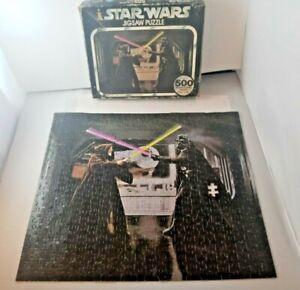 Vintage 1977 Star Wars 500 Piece Puzzle Series II Darth Vader & Ben Kenobi Duel