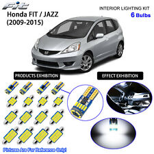 6 Bulbs LED Interior Dome Light Kit Cool White For 2009-2015 Honda FIT / JAZZ