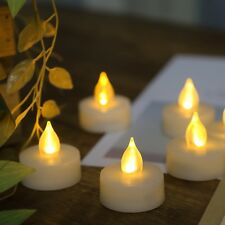 Battery Operated LED Flameless Tea Light Candles with Timer 6 PCS Long Lasting