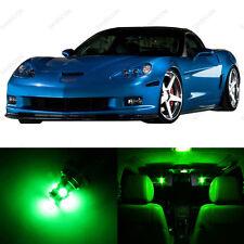 11 x Green LED Interior Light Package For 2005 - 2013 Chevy Corvette C6 + TOOL