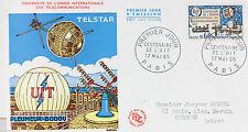 ENVELOPPE PREMIER JOUR - 9 x 16,5 cm - ANNEE 1965 - LES TELECOMMUNICATIONS