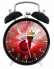 "Miami Heat Alarm Desk Clock 3.75"" Home or Office Decor W60 Nice For Gift"