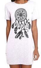 Dreamcatcher Native American Hipster Large Print Women's T-Shirt Dress